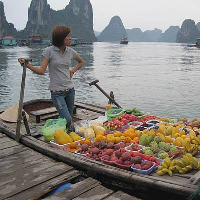 Photograph - Halong Bay Fruit Shop #vietnam by Paul Dal Sasso