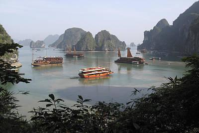Junk Boat Photograph - Halong Bay by Susan Taylor