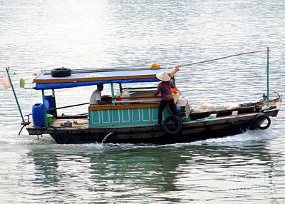 Photograph - Halong Boat 11 by Randall Weidner