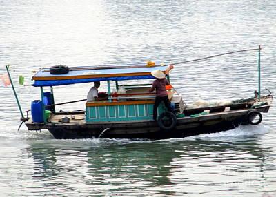 Photograph - Halong Boat 11 by Randall Weidner