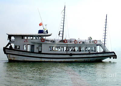 Photograph - Halong Boat 3 by Randall Weidner