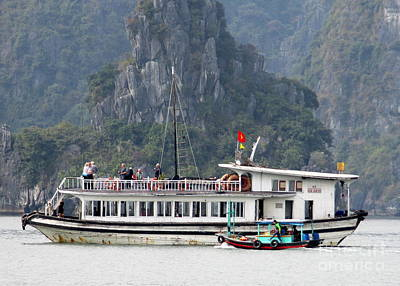 Photograph - Halong Boat 4 by Randall Weidner