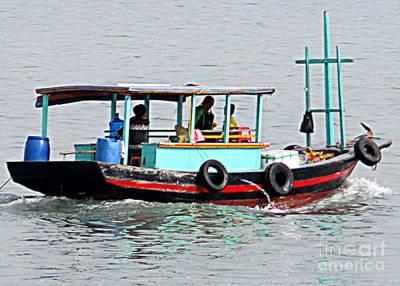 Photograph - Halong Boat 7 by Randall Weidner