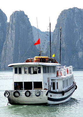 Photograph - Halong Boat 8 by Randall Weidner