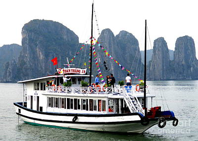 Photograph - Halong Boat 9 by Randall Weidner