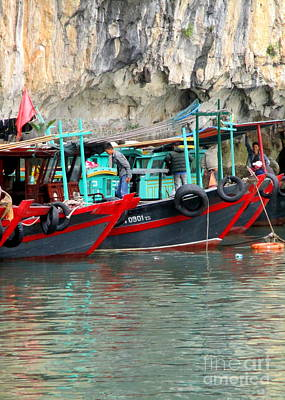 Photograph - Halong Boats 12 by Randall Weidner