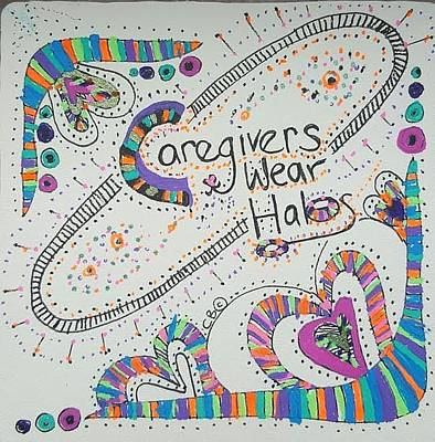 Drawing - Halos by Carole Breccht