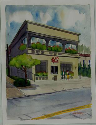 Steakhouses Painting - Hal's Restaurant by Scott Serafy