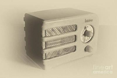 Radio Photograph - Halson Radio Antique by Pittsburgh Photo Company