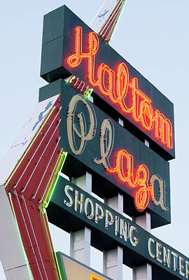 Photograph - Haltom Neon 52917 by Rospotte Photography