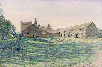 Sun Casting Shadow Painting - Halton Castle by George Price Boyce