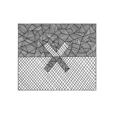 Mosaic Drawing - Halves by Konstantin Sevostyanov