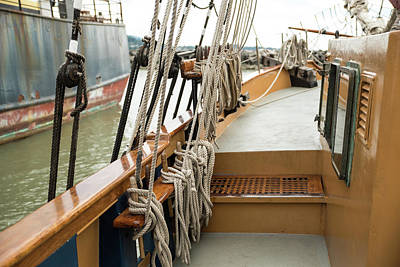 Photograph - Halyards Lines And Sheets by Tom Cochran