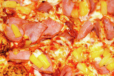 Photograph - Ham And Pineapple Pizza by SR Green