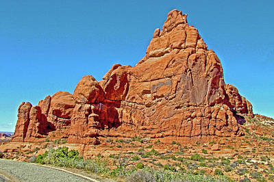 Photograph - Ham Rock In Arches National Park, Utah by Ruth Hager
