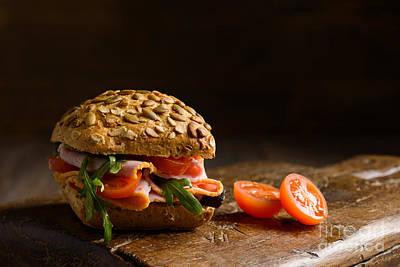 Baguette Photograph - Ham Salad Roll by Amanda Elwell