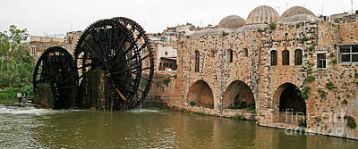 Photograph - Hama Water Wheel #2 by PJ Boylan