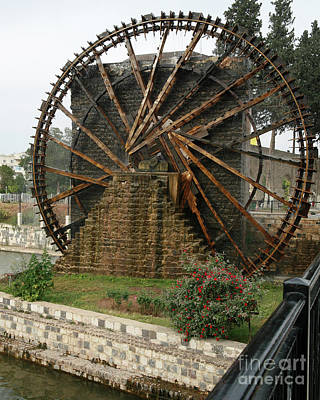 Photograph - Hama Water Wheel by PJ Boylan