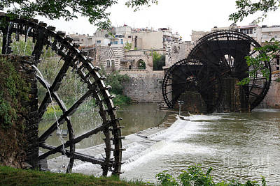 Photograph - Hama Water Wheels #1 by PJ Boylan