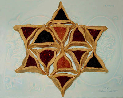 Purim Photograph - Hamantaschen Star Of David by Brian Tada