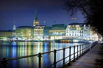 Hamburg At Night Art Print by Marc Huebner