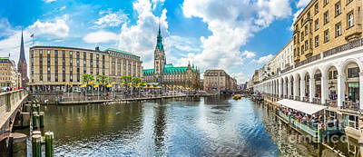 Nirvana - Hamburg city center with town hall and Alster river, Germany by JR Photography