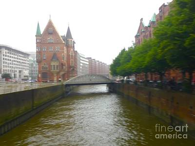 Photograph - Hamburg Germany Canal by Suzanne Lorenz
