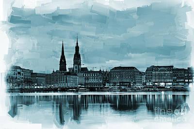 Hamburg Germany Skyline  Original by Gull G
