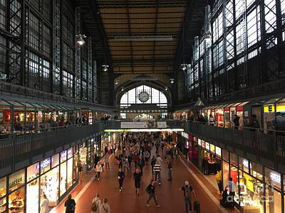 Photograph - Hamburg Germany Trainstation by Suzanne Lorenz