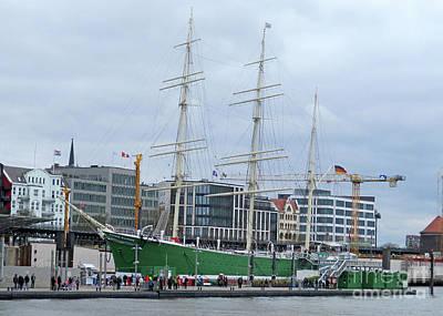 Photograph - Hamburg Harbor 16 by Randall Weidner