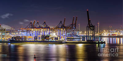 Photograph - Hamburg Harbor View by Daniel Heine