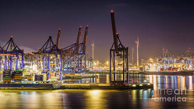 Photograph - Hamburg Harbor View II by Daniel Heine