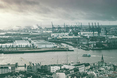 Hamburg Port  Art Print