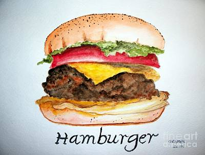 Hamburger Painting - Hamburger 1 by Carol Grimes