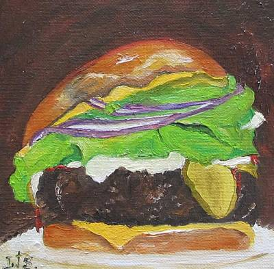 Hamburger Painting - Hamburger Heaven by Irit Bourla