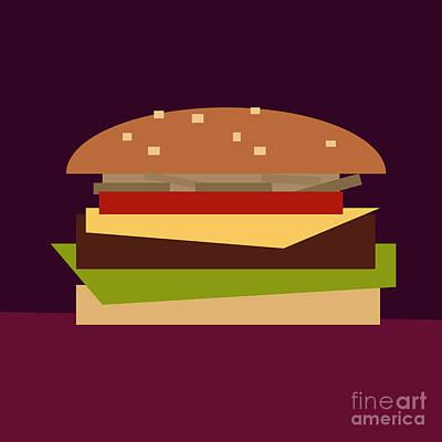 American Food Digital Art - Hamburger by Igor Kislev