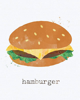 Hamburger Art Print by Linda Woods