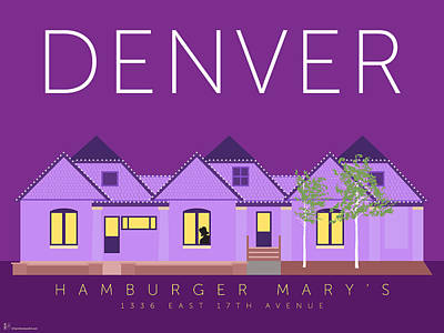 Digital Art - Hamburger Mary's by Sam Brennan