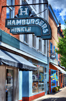 Hamburgers In Indiana Art Print by Tri State Art
