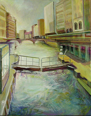 Painting - Hamburgh - A Canal by Jean-Marc Robert