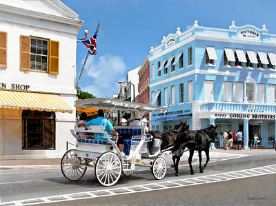 Man Photograph - Hamilton Bermuda Carriage Ride by Susan Savad