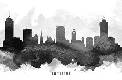 Ontario Digital Art - Hamilton Cityscape 11 by Aged Pixel