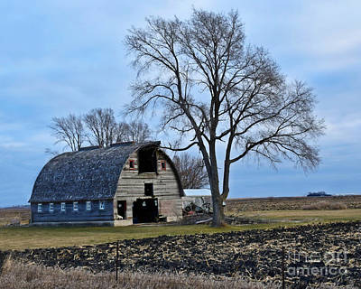 Photograph - Hamilton County Barn by Kathy M Krause