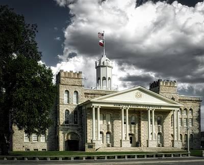 Hamilton County Courthouse - Hamilton Texas Art Print