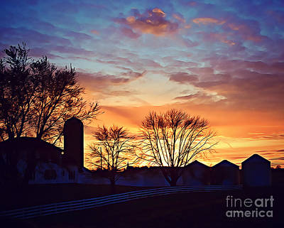 Photograph - Hamilton County Farm by Kathy M Krause