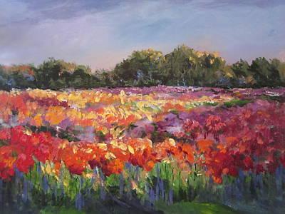 Painting - Hamilton Dahlia Farm by Sandra Strohschein