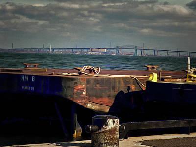 Digital Art -  Hamilton Harbor- Pier 8 by Leslie Montgomery