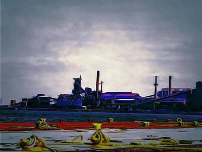 Digital Art - Hamilton Harbor- Steel Company by Leslie Montgomery