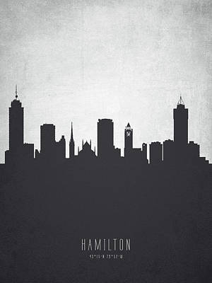 Ontario Digital Art - Hamilton Ontario Cityscape 19 by Aged Pixel