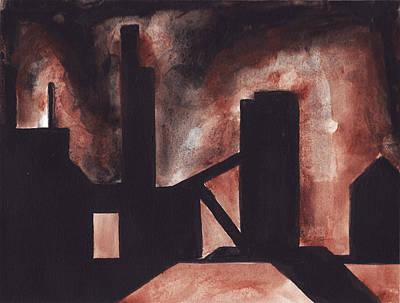 Painting - Hamilton Ontario Industrial by Ron Erickson